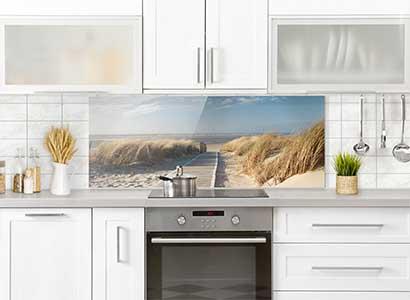 Spritzschutz aus Glas für jede Küche | alle Motive auf einen ...