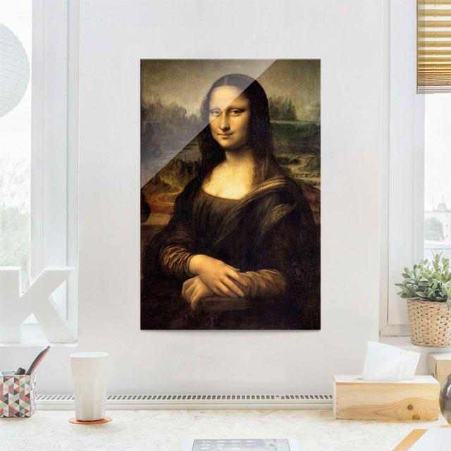 Glasbild Da Vinci Mona Lisa