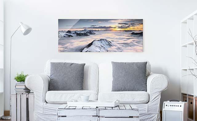 Glas-Bild Wandbilder Druck auf Glas 140x70 Deko Sonstige Streifen