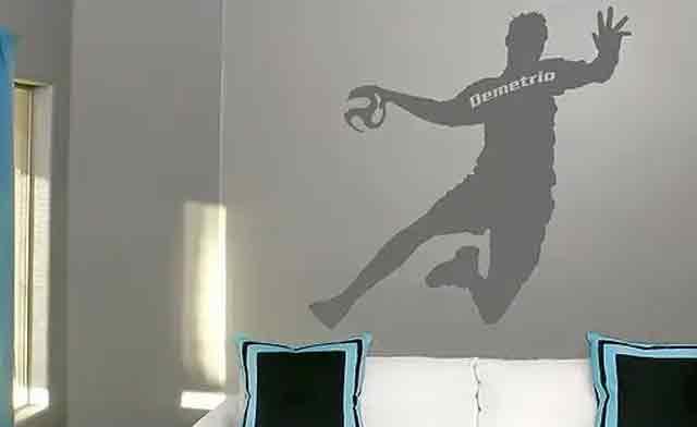 wandtattoo handball wunschtext m
