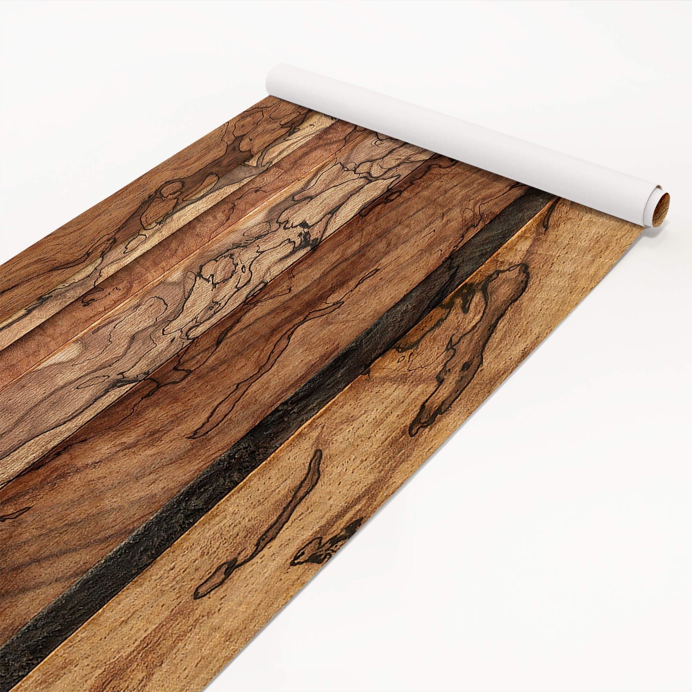 klebefolie holzoptik holzwand flamed dekorfolie holz ebay. Black Bedroom Furniture Sets. Home Design Ideas