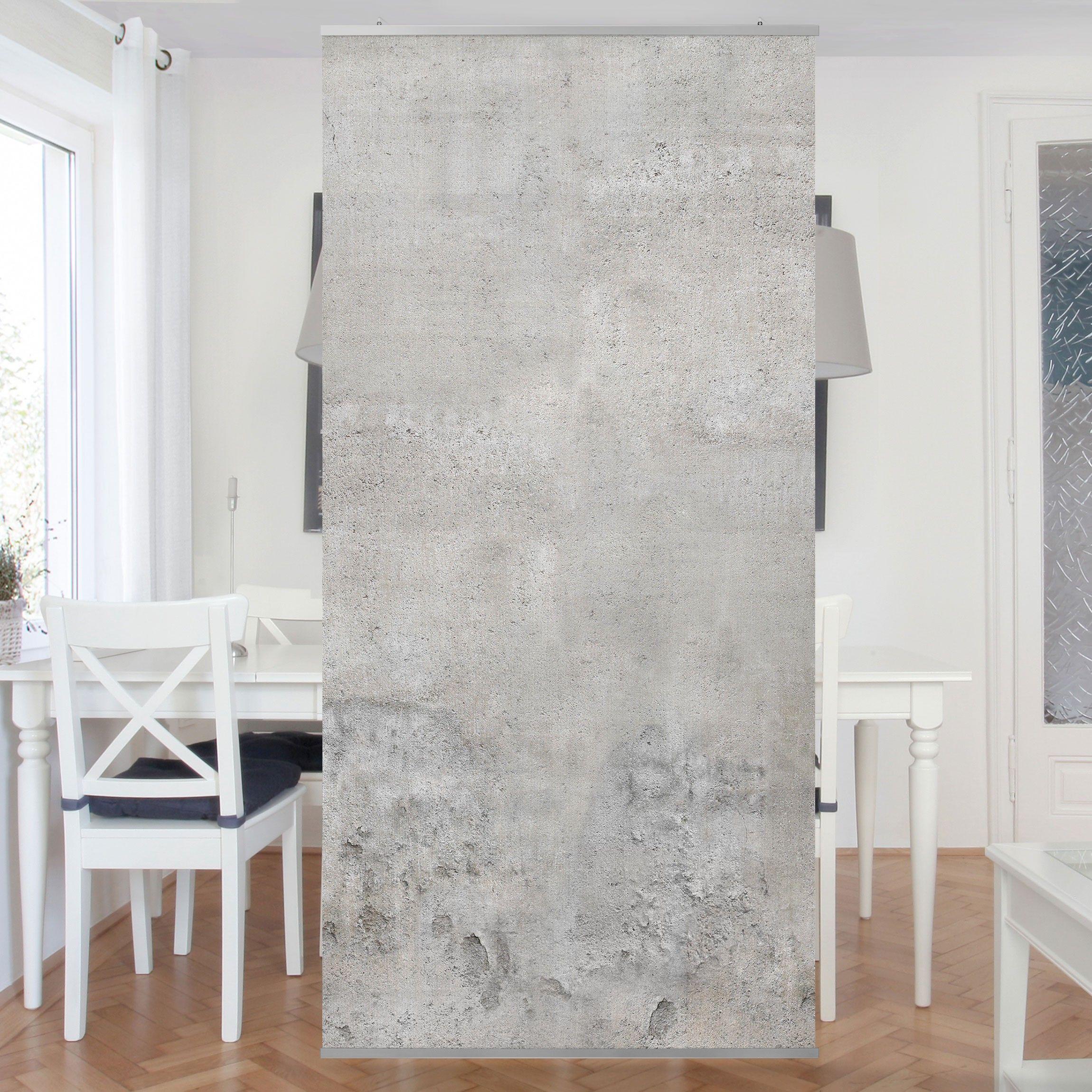 Raumteiler   shabby betonoptik 250x120cm
