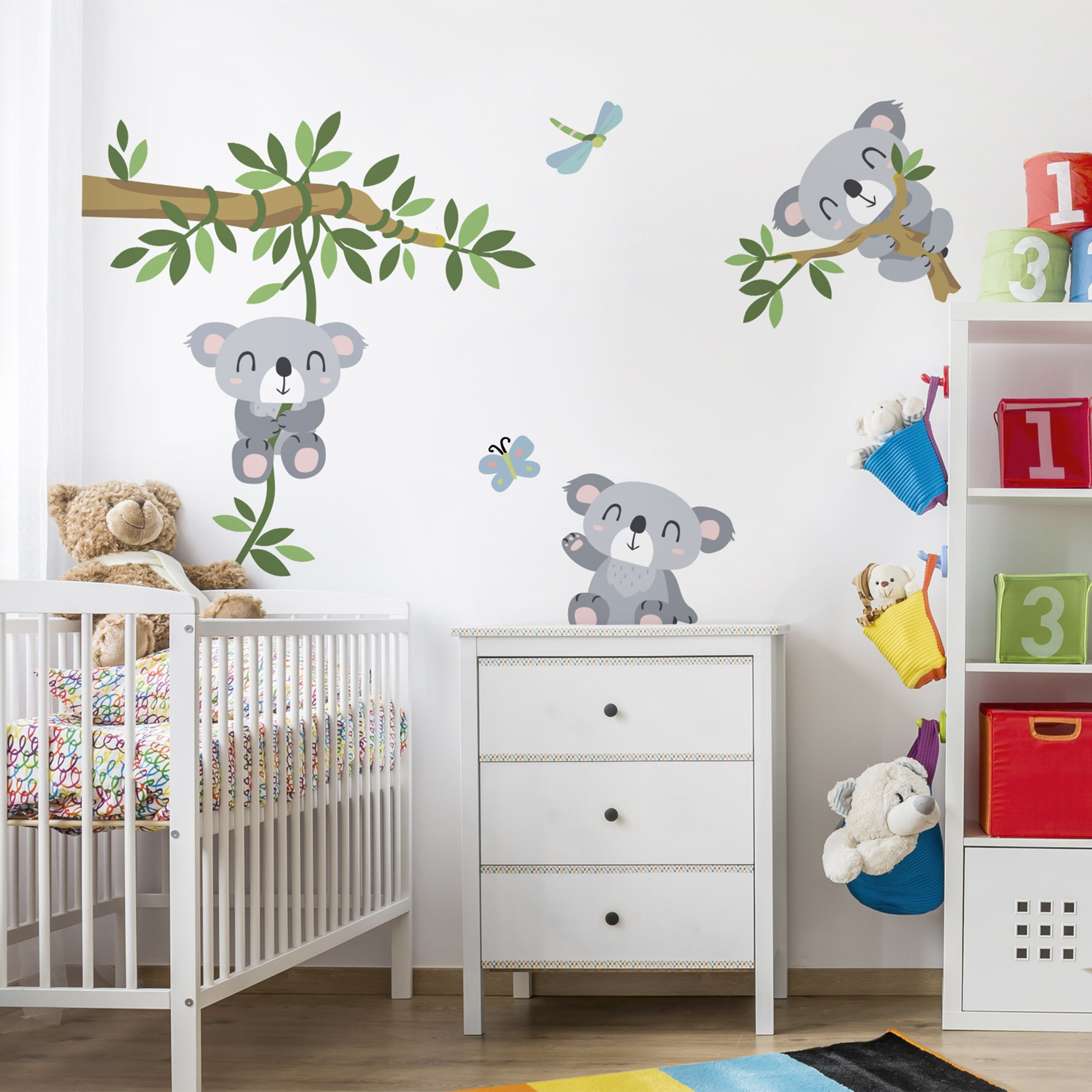 Wandtattoo kinderzimmer koala set for Babyzimmer deko wand