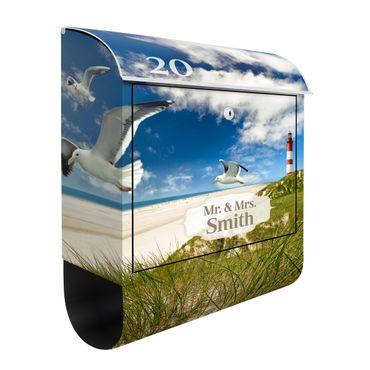 Briefkasten mit eigenem Text & Hausnummer - Dune Breeze - Hausbriefkasten