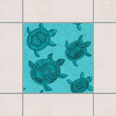 Fliesenaufkleber - Polynesische Meeresschildkröten
