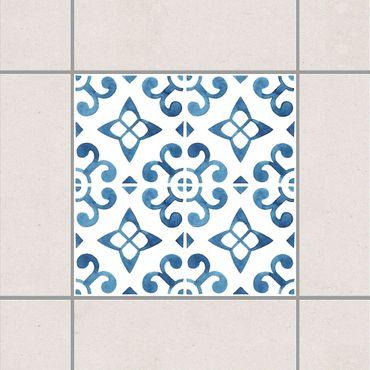 Fliesenaufkleber - Blau Weiß Muster Serie No.5