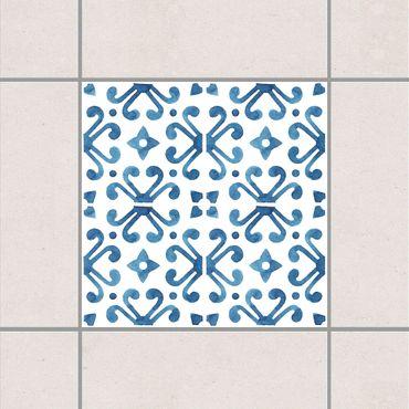 Fliesenaufkleber - Blau Weiß Muster Serie No.7
