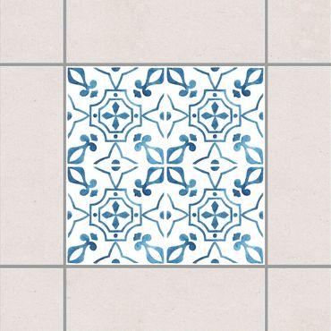 Fliesenaufkleber - Blau Weiß Muster Serie No.9