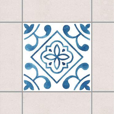 Fliesenaufkleber - Muster Blau Weiß Serie No.2