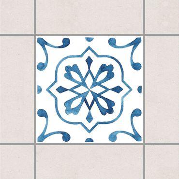 Fliesenaufkleber - Muster Blau Weiß Serie No.4