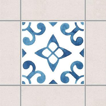 Fliesenaufkleber - Muster Blau Weiß Serie No.5