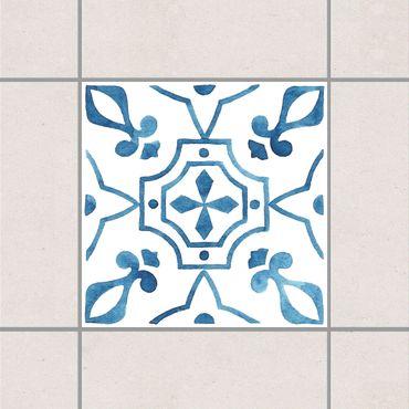 Fliesenaufkleber - Muster Blau Weiß Serie No.9