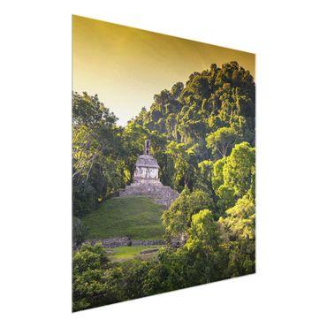 Glasbild - Maya Ruinen - Quadrat 1:1