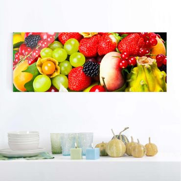 Glasbild - Fruit Basket - Panorama Quer