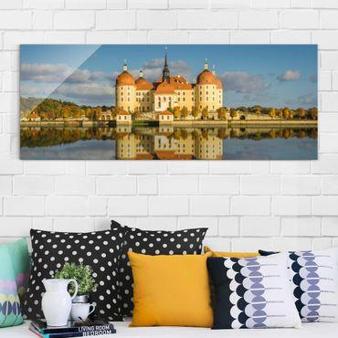 Glasbild - Moritzburg - Panorama Quer