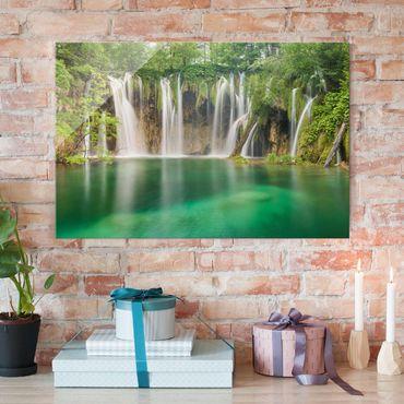 Glasbild - Wasserfall Plitvicer Seen - Quer 3:2