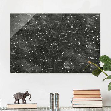 Glasbild - Sternbild Karte Tafeloptik - Quer 3:2