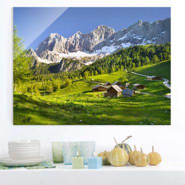Glasbild - Steiermark Almwiese - Quer 4:3