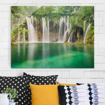 Glasbild - Wasserfall Plitvicer Seen - Quer 4:3