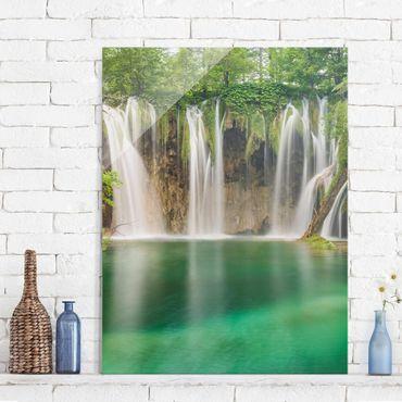 Glasbild - Wasserfall Plitvicer Seen - Hoch 3:4