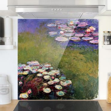 Spritzschutz Glas - Claude Monet - Seerosen - Quadrat 1:1