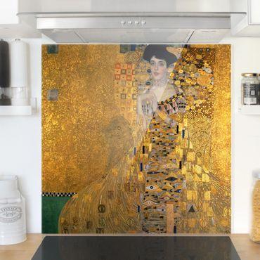 Spritzschutz Glas - Gustav Klimt - Adele Bloch-Bauer I - Quadrat 1:1