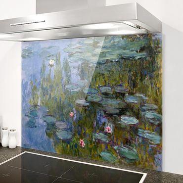 Spritzschutz Glas - Claude Monet - Seerosen (Nympheas) - Quer 4:3