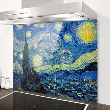 Spritzschutz Glas - Vincent van Gogh - Sternennacht - Quer 4:3