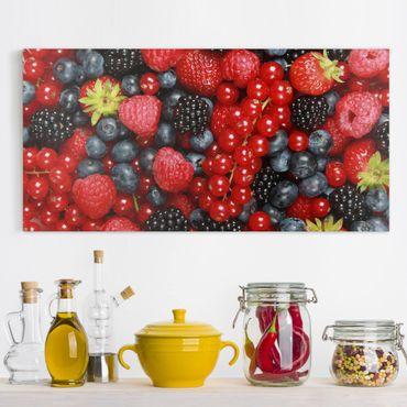 Leinwandbild - Fruchtige Waldbeeren - Quer 2:1