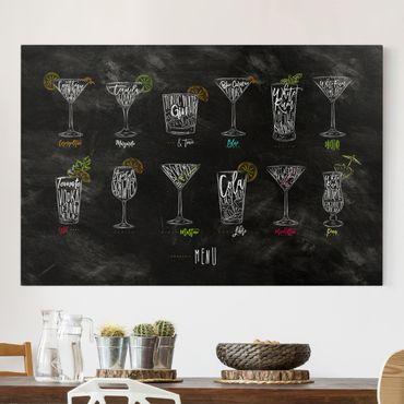 Leinwandbild - Cocktail Menu - Quer 3:2