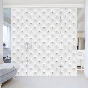 Schiebegardinen Set - Diamant Weiß Luxus - Flächenvorhänge
