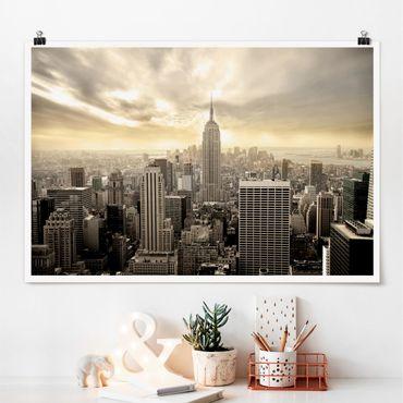 Poster - Manhattan Dawn - Querformat 2:3