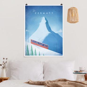 Poster - Reiseposter - Zermatt - Hochformat 4:3