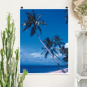 Poster - Mauritius Beach - Hochformat 3:4