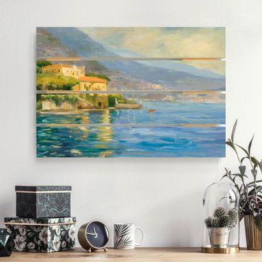 Holzbild - Italienische Landschaft - Meer - Querformat 2:3