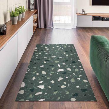 Vinyl-Teppich - Detailliertes Terrazzo Muster Messina - Querformat 2:1