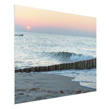 Forex Fine Art Print - Sonnenuntergang am Meer - Querformat 3:4