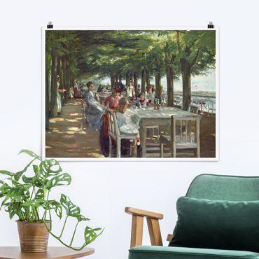 Poster - Max Liebermann - Terrasse des Restaurants Jacob - Querformat 3:4