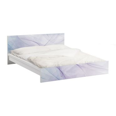 Möbelfolie für IKEA Malm Bett niedrig 160x200cm - Klebefolie No.RY9 Taubenflug