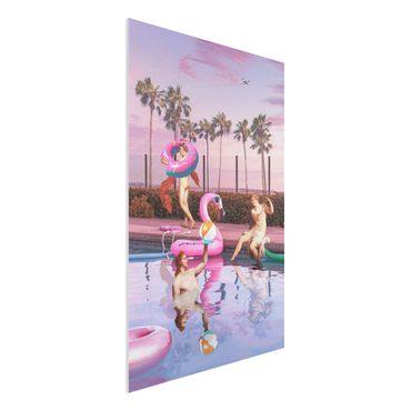 Forex Fine Art Print - Jonas Loose - Pool Party - Hochformat 3:2