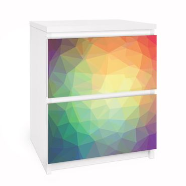 Möbelfolie für IKEA Malm Kommode - Selbstklebefolie No.RY32 Triangular