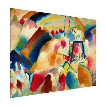 Magnettafel - Wassily Kandinsky - Landschaft mit Kirche - Memoboard Querformat 3:4