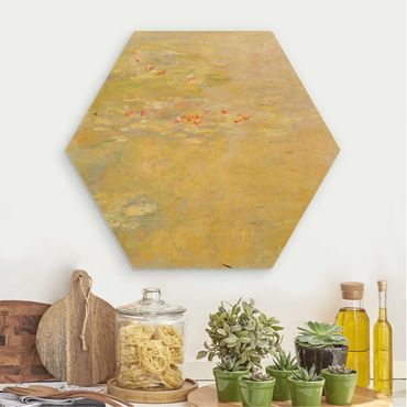 Hexagon Bild Holz - Claude Monet - Seerosenteich