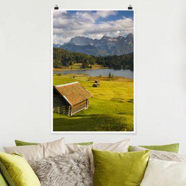 Poster - Geroldsee Oberbayern - Hochformat 3:2