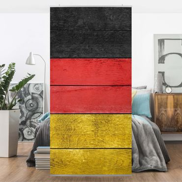 Raumteiler - Germany Woodwall 250x120cm