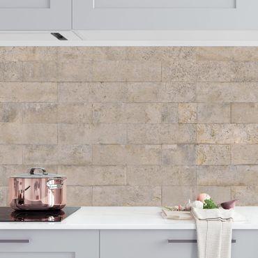 Küchenrückwand - Ziegel Tapete Beton