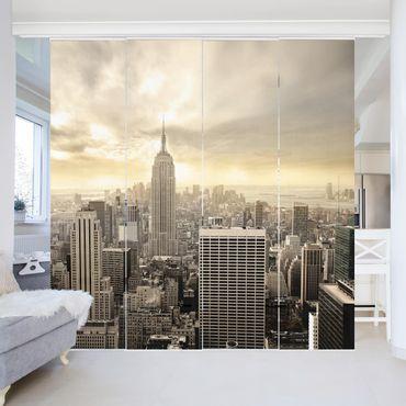 Schiebegardinen Set - Manhattan Dawn - Flächenvorhänge