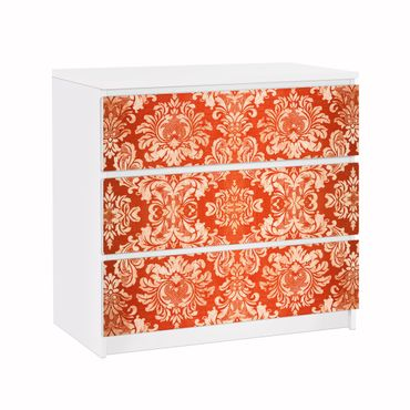 Möbelfolie für IKEA Malm Kommode - Klebefolie Barocktapete