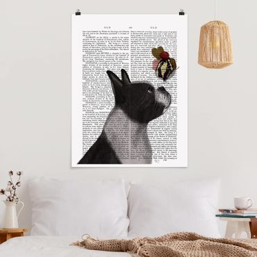 Poster - Tierlektüre - Terrier mit Eis - Hochformat 3:4