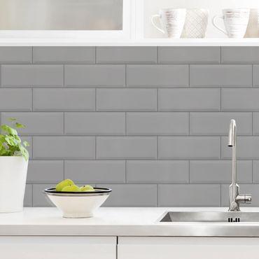 Küchenrückwand - Keramikfliesen Hellgrau